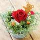 ★枯れないお花★プリザーブドフラワーアレンジメント<ローズ> 写真1