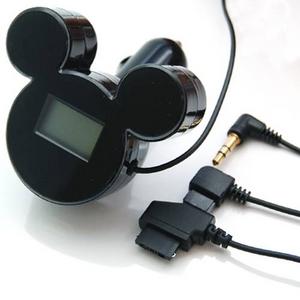 ミッキーシルエットのFMトランスミッター iMusic (ブラック) RX-DNYFMBK
