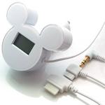 ミッキーシルエットのFMトランスミッター iMusic (ホワイト) RX-DNYFMWH