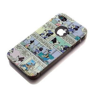 iPhone4用 ディズニーキャラクター バックパネルケース RX-IJK463MM 【2個セット】