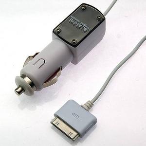 Rix(リックス) iPhone3GS/3G 各種iPod対応 車載シガープラグDC充電器 (ホワイト) RX-IPDCPH2WH 【3個セット】 - 拡大画像