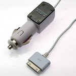 Rix(リックス) iPhone3GS/3G 各種iPod対応 車載シガープラグDC充電器 (ホワイト) RX-IPDCPH2WH 【3個セット】