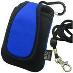 Rix(リックス) 3通りの使い方が出来る 縦型 ネオプレーンケース 携帯・デジカメ等対応 (ブルー) RX-NP765BL 【2個セット】