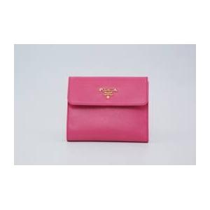 [送料無料]プラダ サフィアーノレザー 二つ折り財布(小銭入れ有) ピンク 1MO170 BEGONIA SAFFIANO METAL