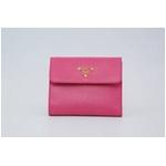 [送料無料]PRADA プラダ サフィアーノレザー 二つ折り財布(小銭入れ有) ピンク 1MO170 BEGONIA SAFFIANO METAL