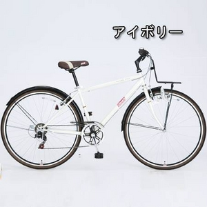 Coleman(コールマン) 27インチ 6段変速 クロスバイク CRB276 アイボリー - 拡大画像