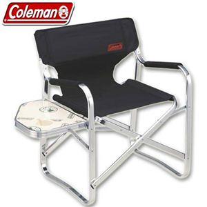 Coleman(コールマン) サイドテーブル付ニューキャプテンチェア(ブラック) 170-7652  - 拡大画像