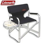 Coleman(コールマン) サイドテーブル付ニューキャプテンチェア(ブラック) 170-7652