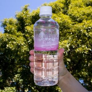 ナチュラルミネラルウォーター aqua aqua 500ml pink 1ケース24本