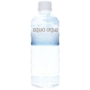ナチュラルミネラルウォーター aqua aqua 500ml blue 1ケース24本 - 拡大画像
