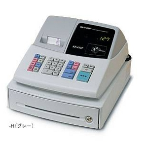 SHARP(シャープ) レジスター XE-A127 【グレー】 × レジロール紙(上質紙) 20巻セット