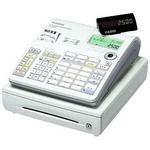 CASIO(カシオ) レジスター TE-2500-15S 【ホワイト】 × レジロール紙(感熱紙) 40巻セット
