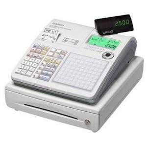 CASIO(カシオ) レジスター TK-2500-4S 【ホワイト】 × レジロール紙(感熱紙) 20巻セット