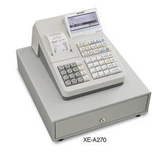 SHARP(シャープ) レジスター XE-A270 【2台】 (1台につきレジロール5巻付き)