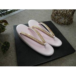 草履単品 エナメル ピンク系 礼装用 605 ★おまけ付き
