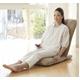 Palmo(パルモ)コンパクト家庭用マッサージ座椅子(ヒーターを内蔵)EM-002【本体+カバーセット】ナチュラルベージュ - 縮小画像4