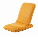 Palmo(パルモ)コンパクト家庭用マッサージ座椅子(ヒーターを内蔵)EM-002【本体+カバーセット】シャイニーオレンジ