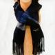 「冬のソナタ」オリジナル・マフラーコレクション 紺色(縞模様) 写真1