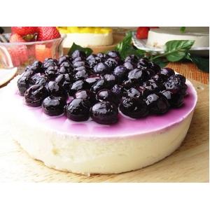 レアチーズケーキ(ホール)食べ放題3種セット (プレーン・ブルーベリー・マンゴー)