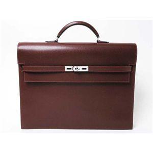 【新品同様】HERMES(エルメス) バッグ ケリーデペッシュ38 二つマチ リセ ボルドー シルバー金具
