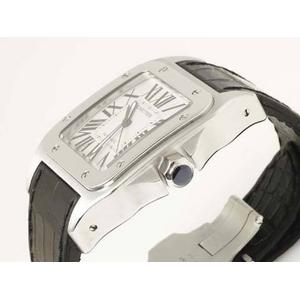 【中古A】Cartier(カルティエ) サントス100 W20073X8 文字盤:ホワイト ベルト:ブラック画像2
