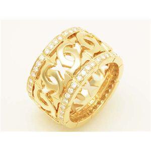 【現品限り】Cartier(カルティエ) アントルラセリング LM エッジダイヤ YG #55 イエロー 【中古A】