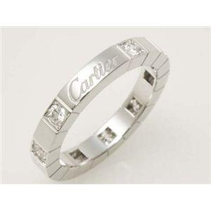 【現品限り】Cartier(カルティエ) ラニエールリング ハーフダイヤ WG #50 ホワイトゴールド 【中古SA】