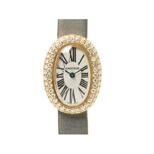 【現品限り】Cartier(カルティエ) ミニベニュワール K18ピンクゴールド 純正ダイヤ2重ベゼル ピンクゴールド/グレー 【中古SA】