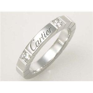 【現品限り】Cartier(カルティエ) ラニエールリング 2Pダイヤ WG #48 ホワイトゴールド 【中古SA】