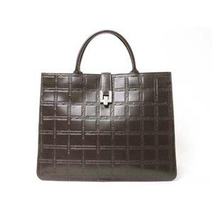 【現品限り】Longchamp(ロンシャン) トートバッグ カーフ ブラウン 【中古AB】 - 拡大画像