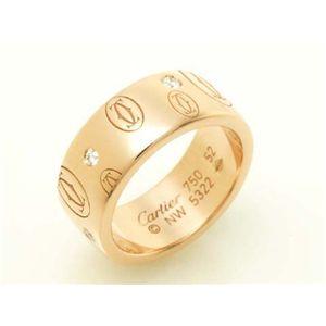 【現品限り】Cartier(カルティエ) ハッピーバースデーリング LM PG #52 K18PG ダイヤ ピンク 【中古A】