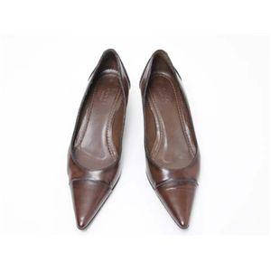 【現品限り】GUCCI(グッチ) パンプス #36C 靴 カーフ ブラウン 【中古AB】 - 拡大画像