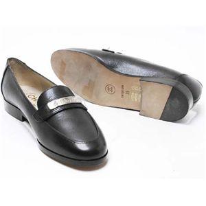 CHANEL(シャネル) ローファー #35 靴 カーフ型押し 黒