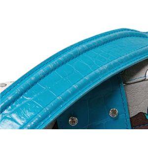 【現品限り】Dolce&Gabbana(ドルチェ&ガッバーナ) ショルダーバッグ カーフ キャンバス ブルー 【中古AB】