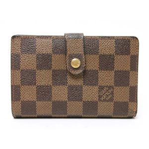 【現品限り】LOUIS VUITTON(ルイ ヴィトン) がま口財布 ダミエキャンバス N61674 【中古B】