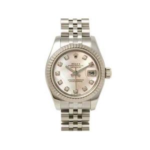 【現品限り】ROLEX(ロレックス) 腕時計 デイトジャスト 179174NG ピンクシェル 10Pダイヤ D番 【中古A】