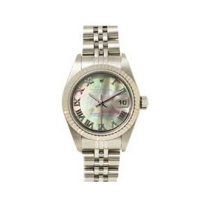【現品限り】ROLEX(ロレックス) 腕時計 デイトジャスト 79174NR ブラックシェル文字盤 レディースウォッチ【中古A】
