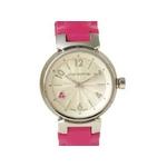 【現品限り】LOUIS VUITTON(ルイ ヴィトン) 腕時計 タンブール ピンクサファイヤ Q1218【中古SA】