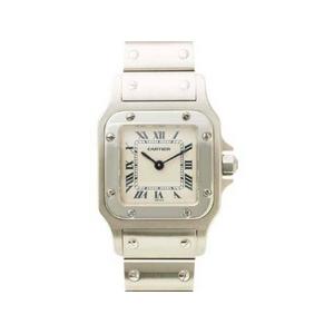 【現品限り】Cartier(カルティエ) 腕時計 サントスガルベSM SS クオーツ 旧バックル【中古A】 - 拡大画像