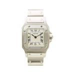 【現品限り】Cartier(カルティエ) 腕時計 サントスガルベSM SS クオーツ 旧バックル【中古A】