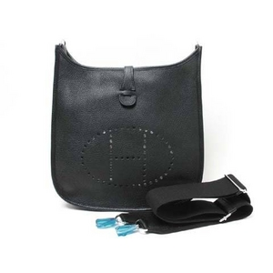 HERMES(エルメス) バッグ エブリン3(トロワ) PM トリヨン 黒 シルバー金具