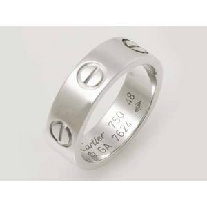 【現品限り】Cartier(カルティエ) ラブリング WG #48 【中古SA】