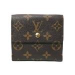 【現品限り】LOUIS VUITTON(ルイ ヴィトン)モノグラム Wホック財布 M61654 【中古A】