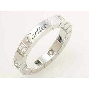 【現品限り】Cartier(カルティエ) ラニエールリング WG ハーフダイヤ #48 【中古SA】
