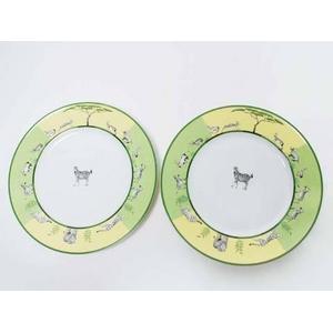 HERMES(エルメス) ペアプレート 皿 アフリカ シマウマ 2枚セット