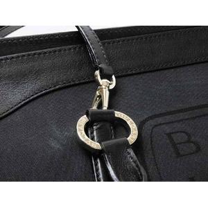 【現品限り】BVLGARI(ブルガリ) ボストンバッグ ショルダーストラップ付き 黒 【中古A】