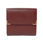 【現品限り】Cartier(カルティエ) マストライン Wホック財布 ボルドー L3000505【未使用】
