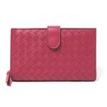 【現品限り】BOTTEGA VENETA(ボッテガヴェネタ) 2つ折り財布 赤 121060【新品同様】