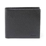 【現品限り】グッチ 2つ折り財布 カーフ 黒 0802 【中古SA】