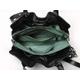 【現品限り】ブルガリ トートバッグ ギャザー リネンカーフ 黒 【新品同様】 - 縮小画像3